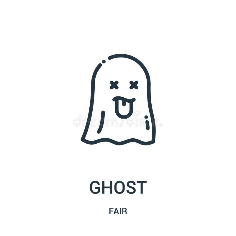 vecteur d'icône de fantôme de la collection juste Ligne mince illustration de vecteur d'icône d'ensemble de fantôme Symbole linéa illustration libre de droits
