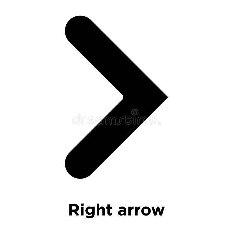 Vecteur d'icône de flèche droite d'isolement sur le fond blanc, conce de logo illustration stock