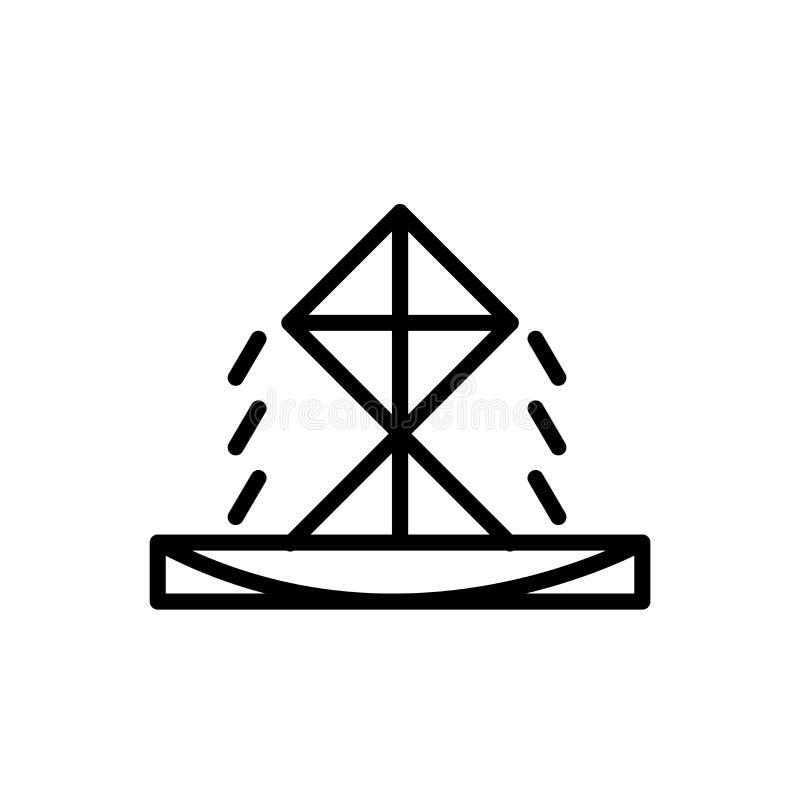Vecteur d'icône de fontaine d'isolement sur le fond blanc, le signe de fontaine, la ligne ou le signe linéaire, conception d'élém illustration de vecteur