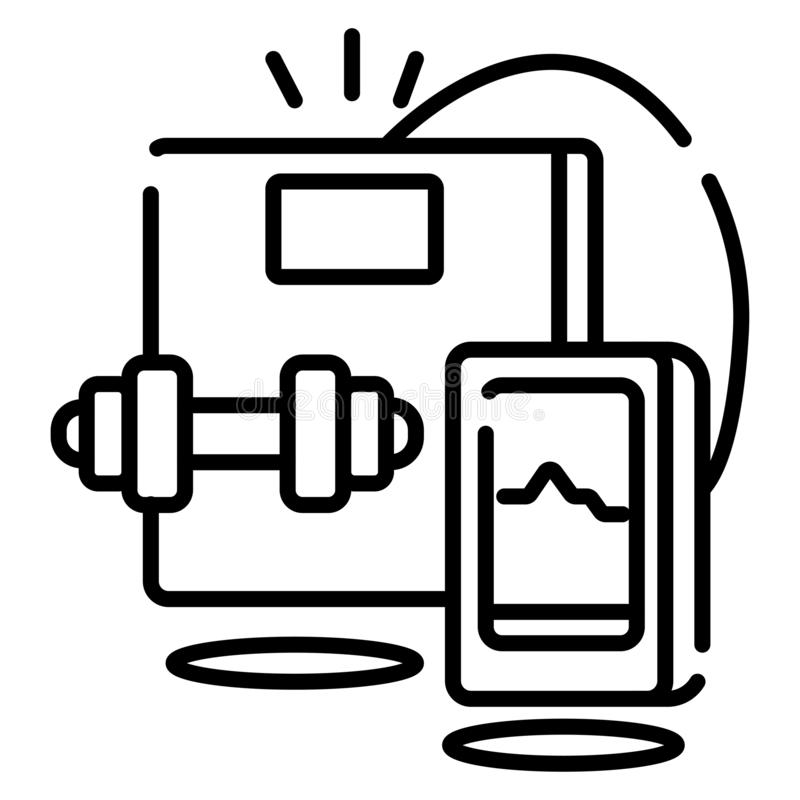 Vecteur d'icône de forme physique illustration libre de droits