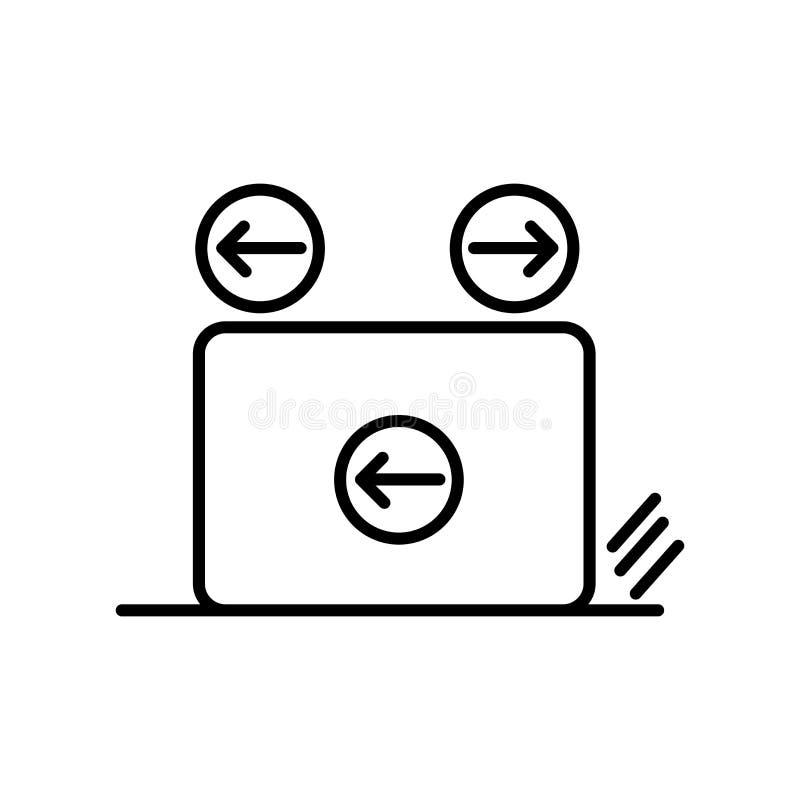 Vecteur d'icône de frottement d'isolement sur le fond, le signe de frottement, le signe et les symboles blancs dans le style liné illustration libre de droits