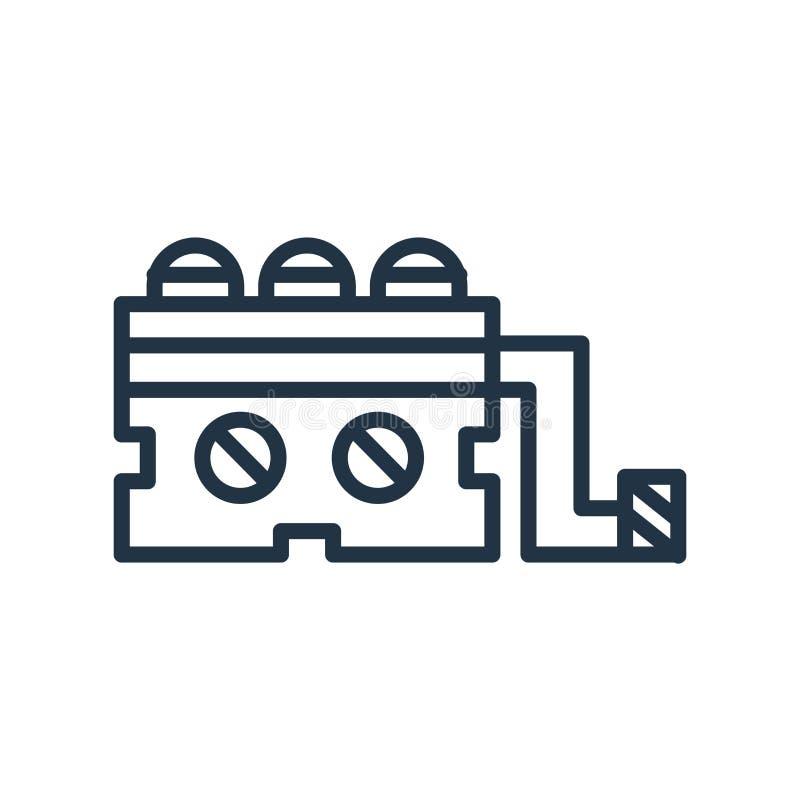 Vecteur d'icône de générateur d'isolement sur le fond blanc, signe de générateur illustration stock