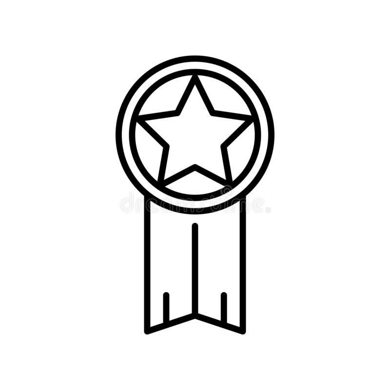 Vecteur d'icône de garantie d'isolement sur le fond blanc, signe de garantie, ligne mince éléments de conception dans le style d' illustration libre de droits
