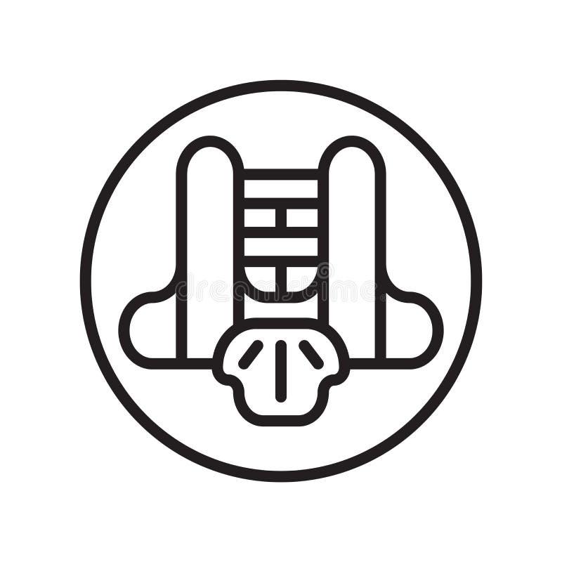 Vecteur d'icône de garde de coffre d'isolement sur le fond blanc, signe de garde de coffre, symboles linéaires de sport illustration libre de droits