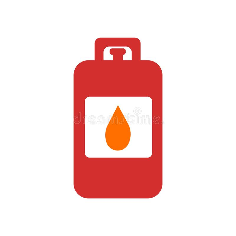 Vecteur d'icône de gaz d'isolement sur le fond blanc, signe de gaz, symboles de catastrophe illustration stock