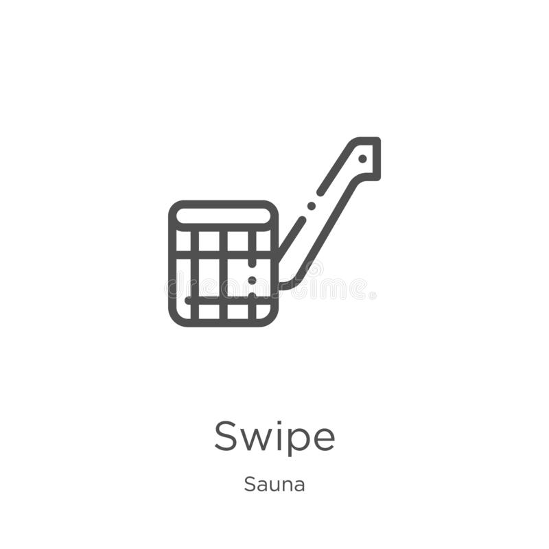 vecteur d'icône de grand coup de collection de sauna Ligne mince illustration de vecteur d'icône d'ensemble de grand coup Contour illustration stock