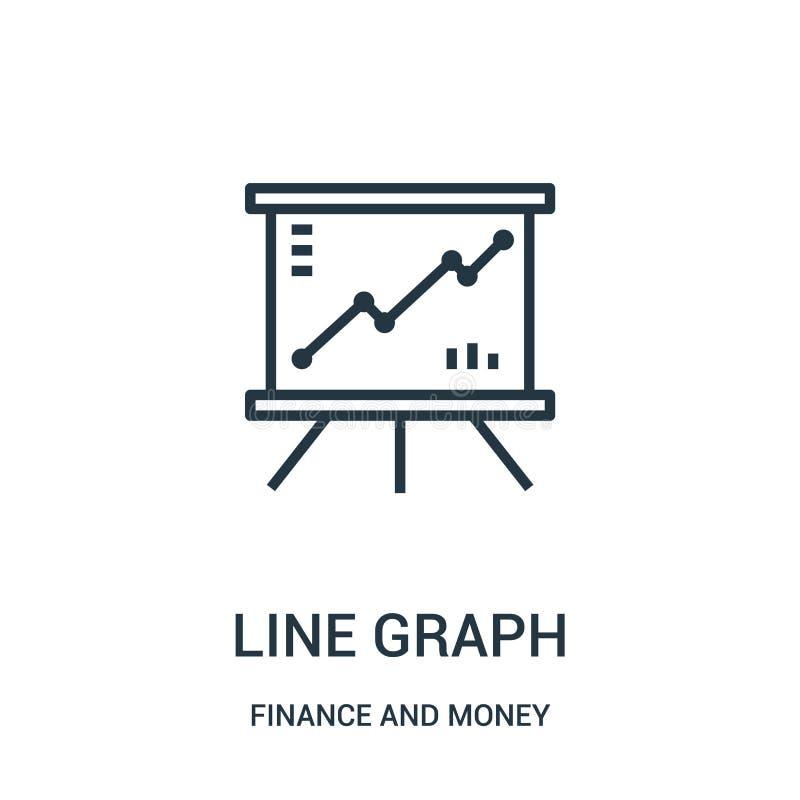 vecteur d'icône de graphe linéaire des finances et de la collection d'argent Ligne mince illustration de vecteur d'icône d'ensemb illustration de vecteur