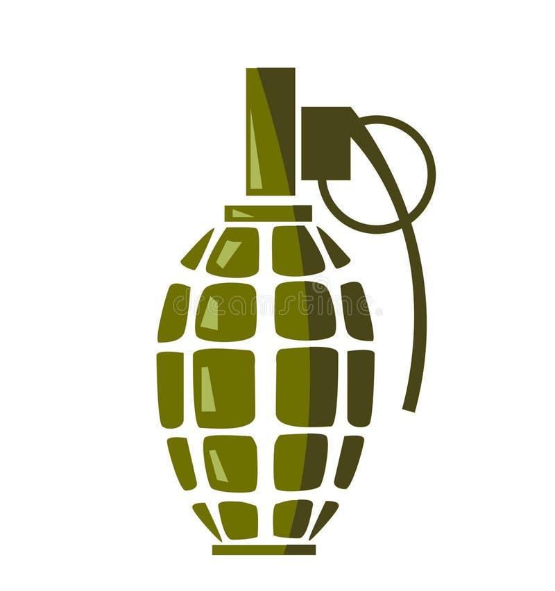 Vecteur d'icône de grenade illustration stock