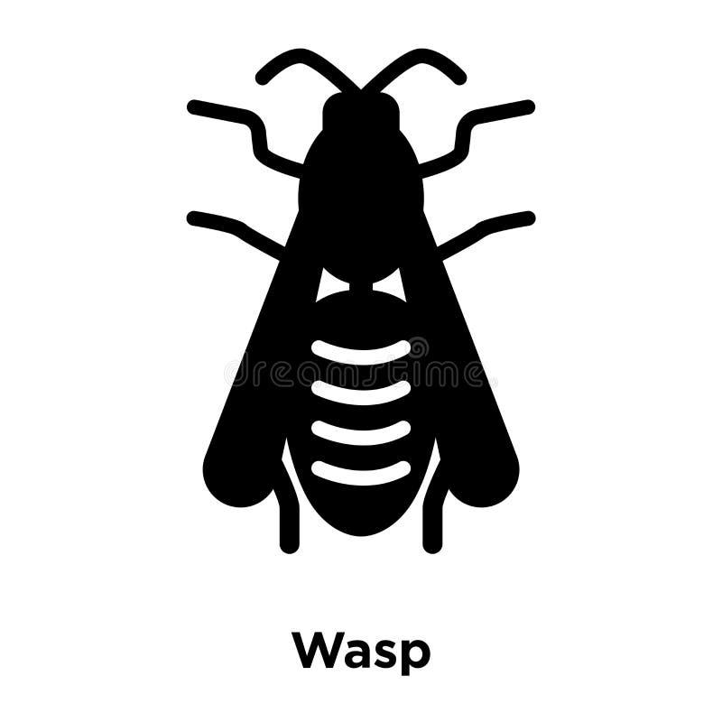 Vecteur d'icône de guêpe d'isolement sur le fond blanc, concept de logo de W illustration de vecteur
