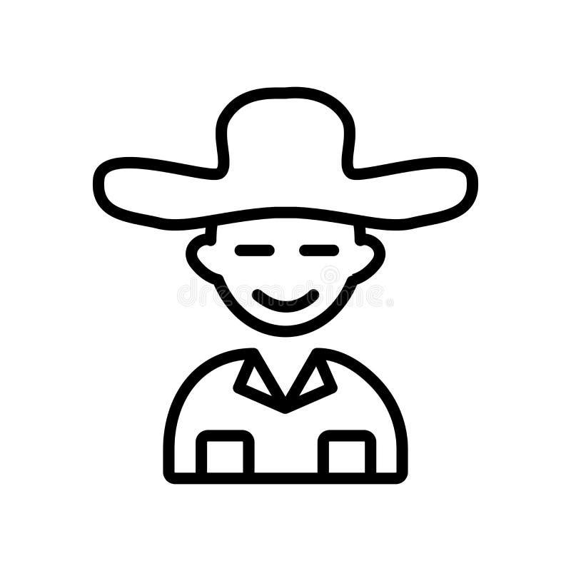 Vecteur d'icône de guide d'isolement sur le fond blanc, signe de guide illustration libre de droits