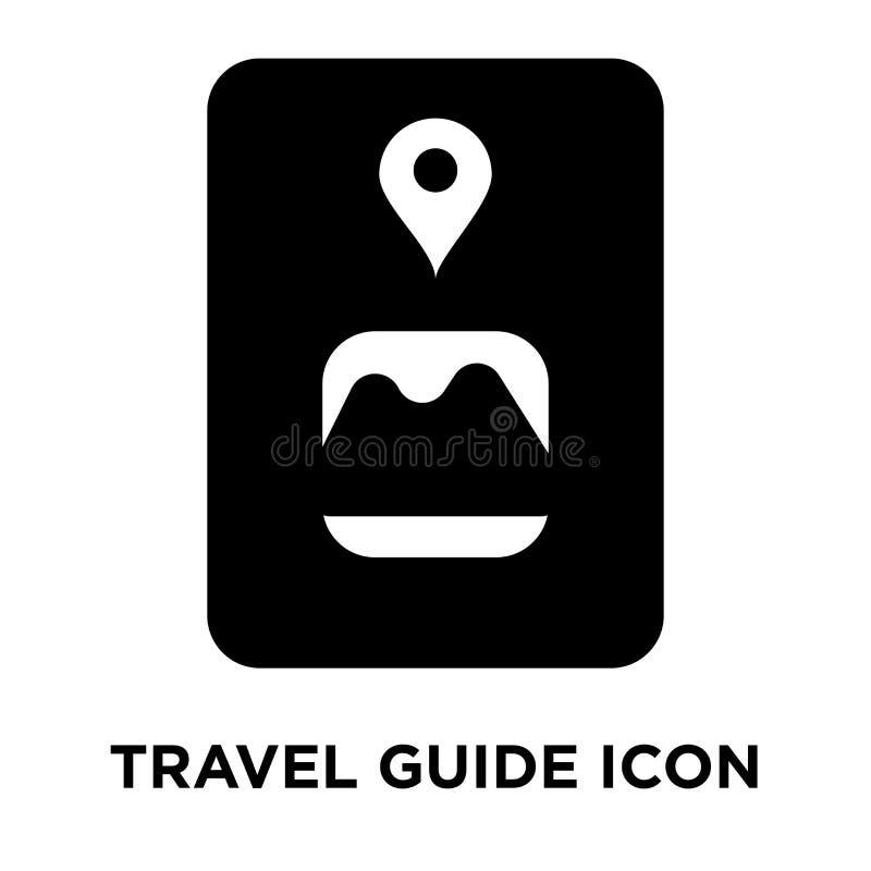 Vecteur d'icône de guide de voyage d'isolement sur le fond blanc, logo concentré illustration libre de droits