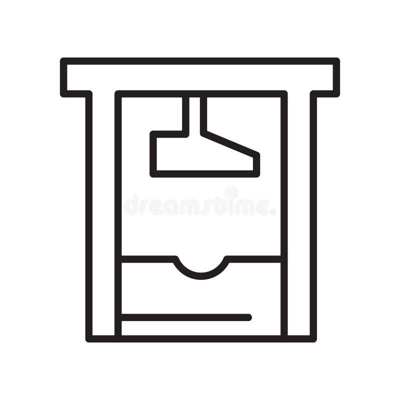 Vecteur d'icône de guillotine d'isolement sur le fond blanc, guillotine illustration de vecteur