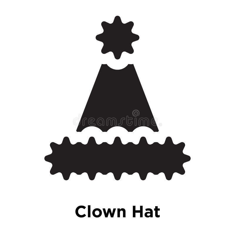 Vecteur d'icône de Hat de clown d'isolement sur le fond blanc, concept de logo illustration de vecteur