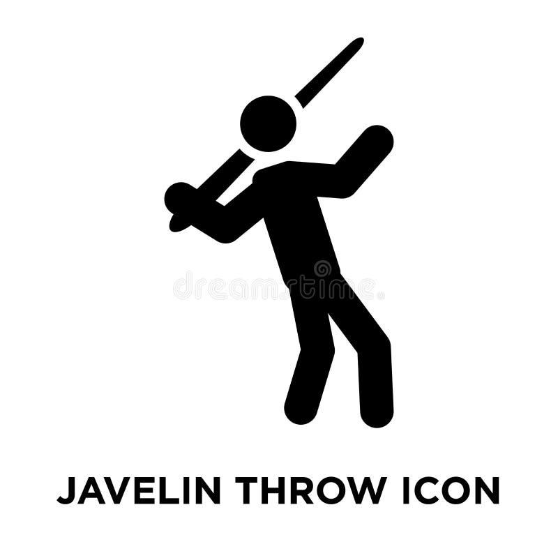 Vecteur d'icône de jet de javelot d'isolement sur le fond blanc, escroquerie de logo illustration stock