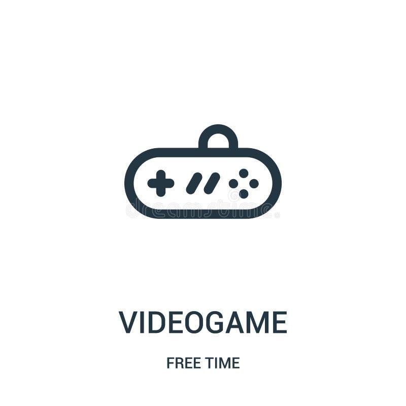 vecteur d'icône de jeu vidéo de collection de temps libre Ligne mince illustration de vecteur d'icône d'ensemble de jeu vidéo Sym illustration libre de droits