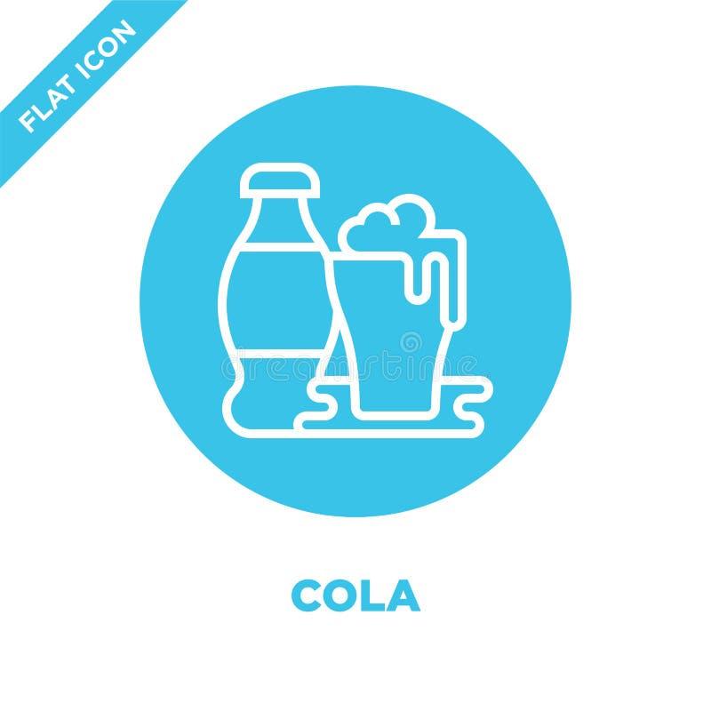 vecteur d'icône de kola de collection de boisson Ligne mince illustration de vecteur d'icône d'ensemble de kola Symbole linéaire  illustration stock