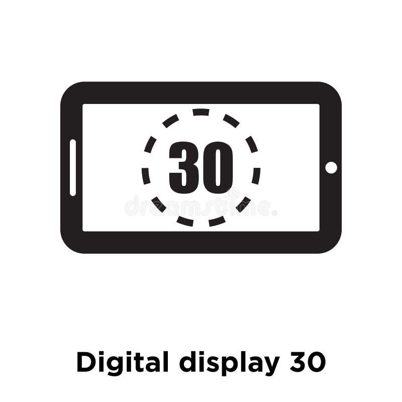 Vecteur d'icône de l'affichage numérique 30 d'isolement sur le fond blanc, rondin illustration libre de droits