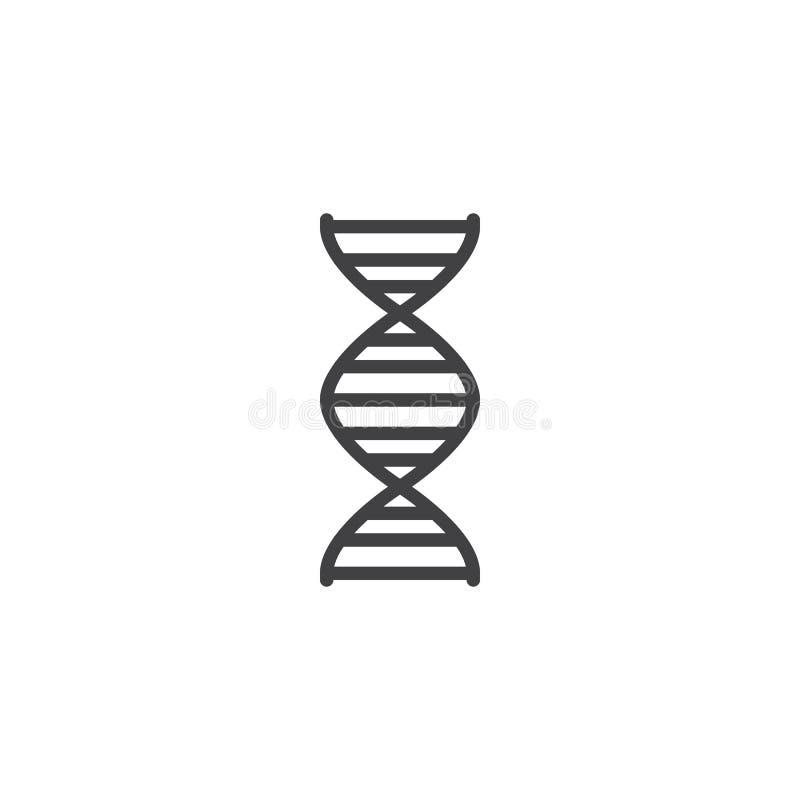 Vecteur d'icône de la génétique illustration libre de droits