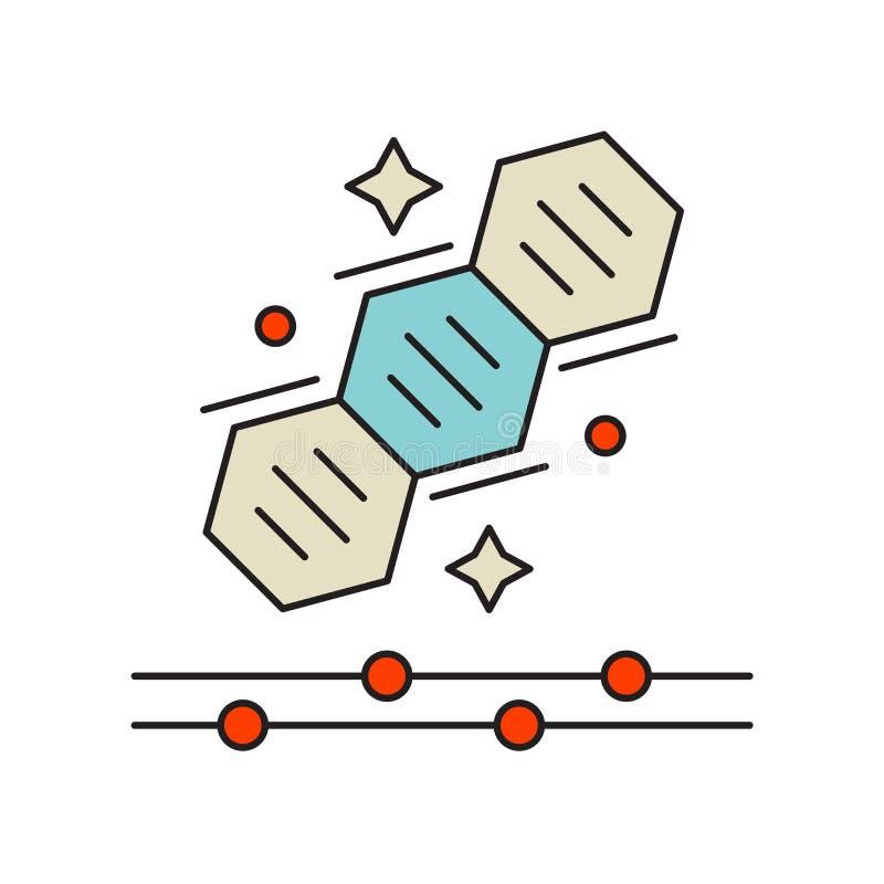 Vecteur d'icône de la génétique d'isolement sur le fond blanc, signe de la génétique, symboles de technologie illustration stock