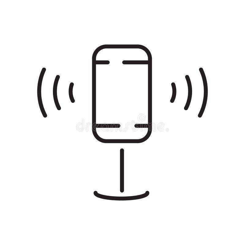 Vecteur d'icône de la parole d'isolement sur le fond, le signe de la parole, le signe et les symboles blancs dans le style linéai illustration libre de droits