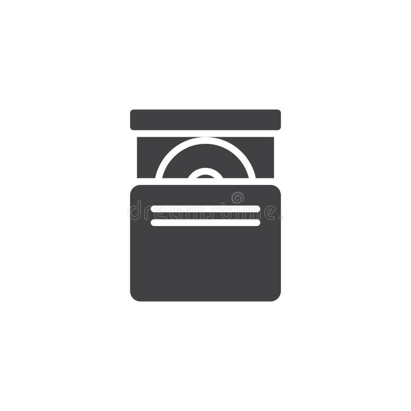 Vecteur d'icône de lecteur de cd-rom illustration stock