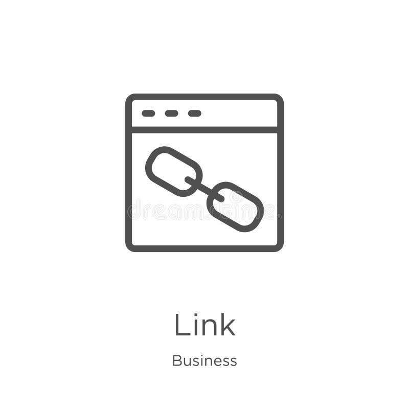 vecteur d'icône de lien de collection d'affaires Ligne mince illustration de vecteur d'ic?ne d'ensemble de lien Contour, ligne mi illustration de vecteur