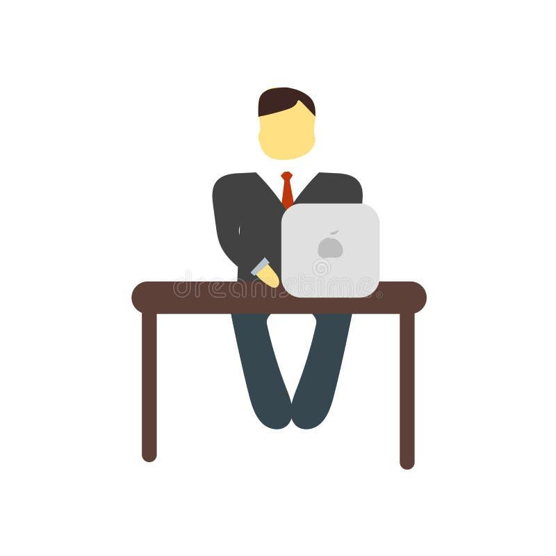 Vecteur d'icône de lieu de travail d'isolement sur le fond blanc, signe de lieu de travail illustration libre de droits