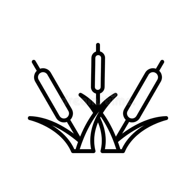Vecteur d'icône de lit de Reed d'isolement sur le fond blanc, signe de lit de Reed illustration libre de droits
