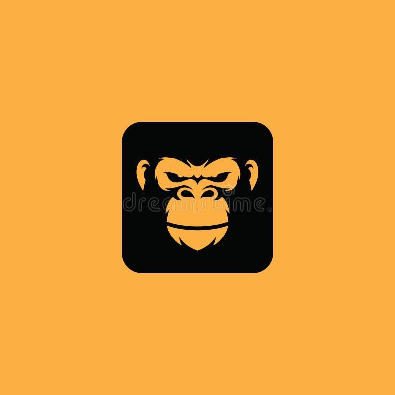 Vecteur d'icône de logo de gorille illustration stock