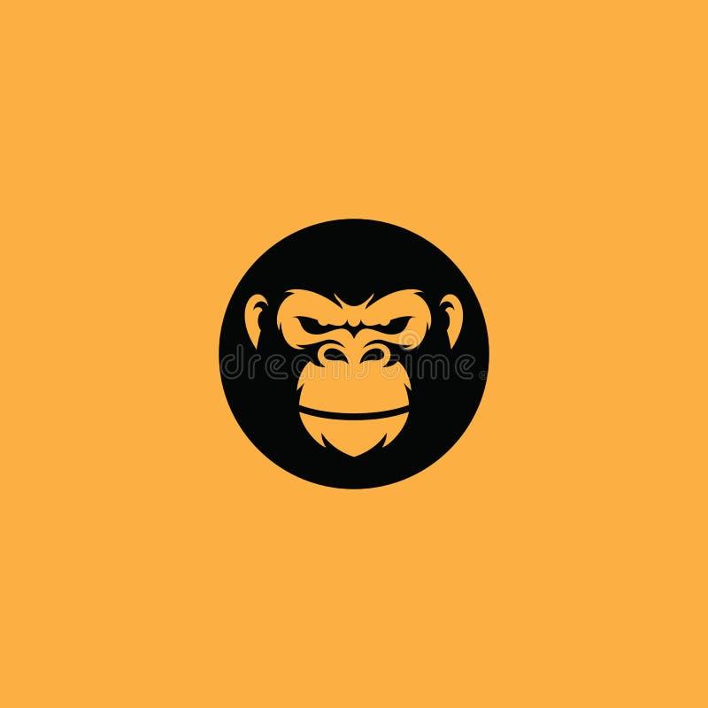 Vecteur d'icône de logo de gorille illustration de vecteur