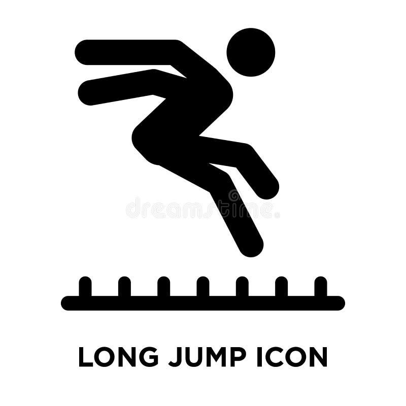Vecteur d'icône de long saut d'isolement sur le fond blanc, concept de logo illustration stock
