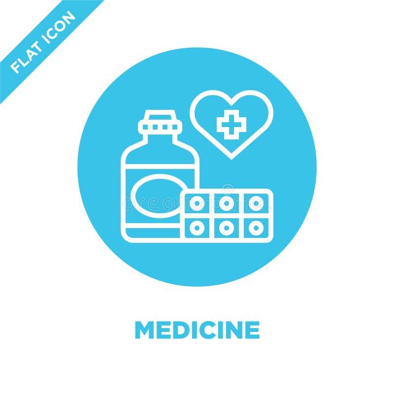 vecteur d'icône de médecine de collection d'éléments de charité Ligne mince illustration de vecteur d'icône d'ensemble de médecin illustration libre de droits