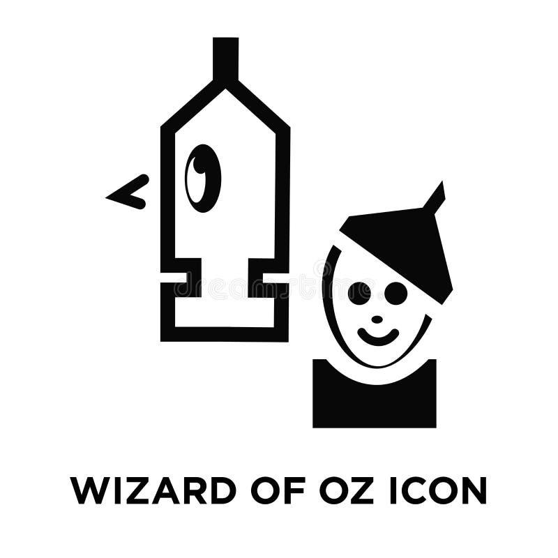 Vecteur d'icône de magicien d'Oz d'isolement sur le fond blanc, logo concentré illustration stock