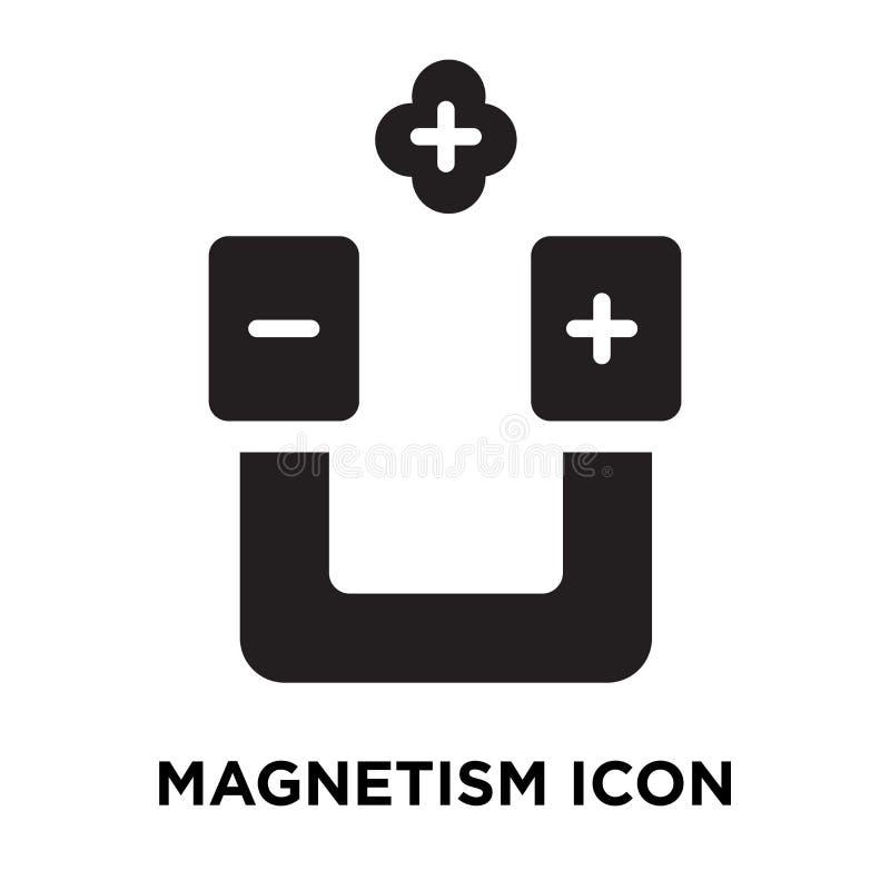 Vecteur d'icône de magnétisme d'isolement sur le fond blanc, concept de logo illustration de vecteur
