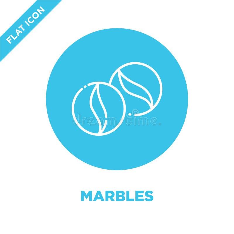 vecteur d'icône de marbres La ligne mince marbre l'illustration de vecteur d'icône d'ensemble symbole de marbres pour l'usage sur illustration libre de droits