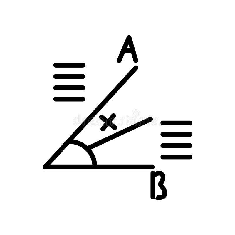 Vecteur d'icône de mathématiques d'isolement sur le fond blanc, mathématique illustration stock