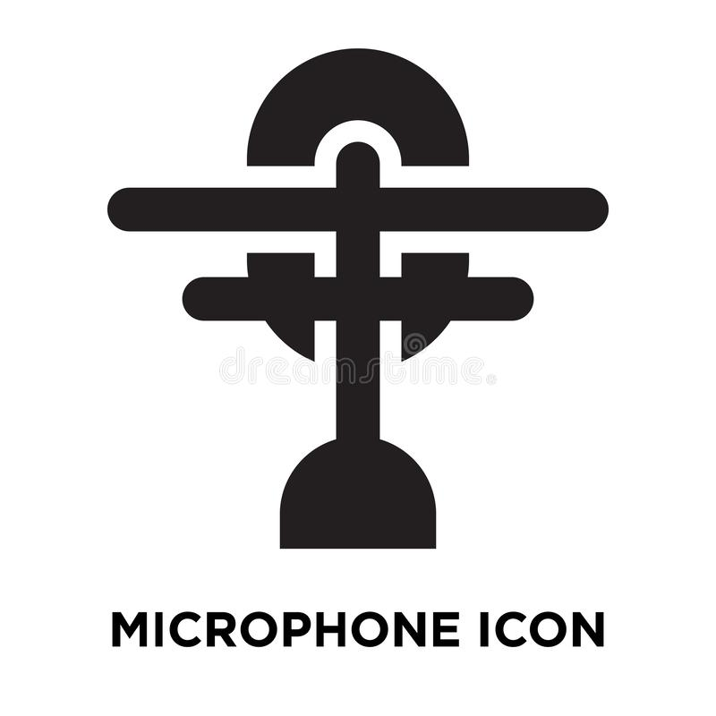 Vecteur d'icône de microphone d'isolement sur le fond blanc, concep de logo illustration stock