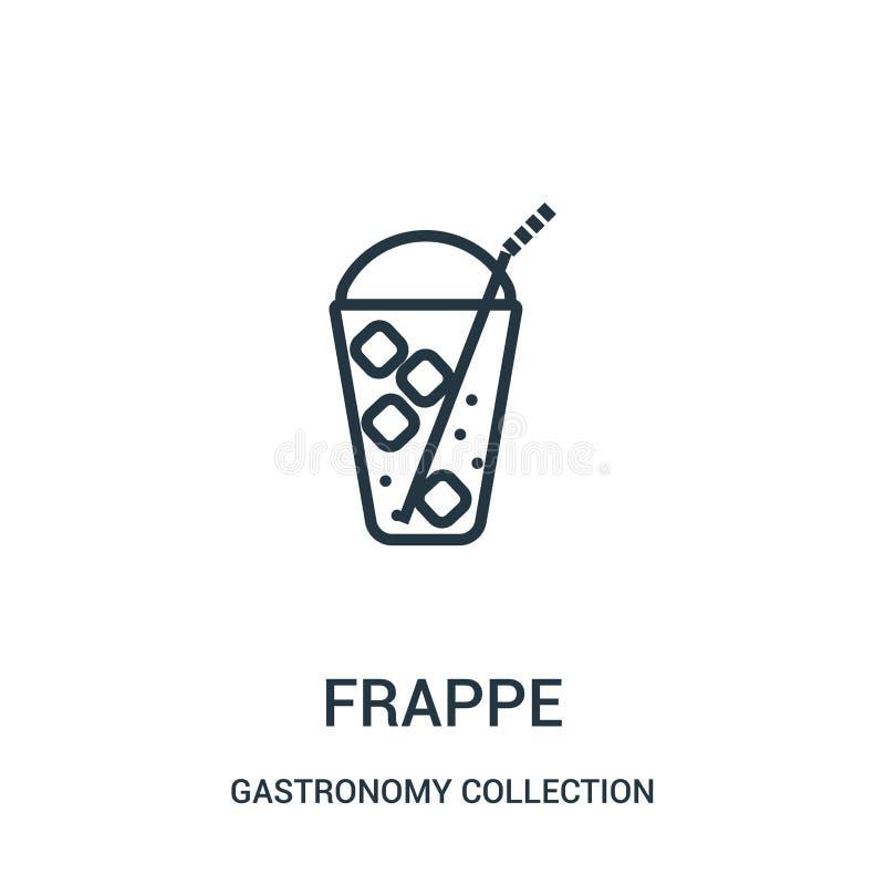 vecteur d'icône de milk-shake de collection de collection de gastronomie Ligne mince illustration de vecteur d'ic?ne d'ensemble d illustration stock
