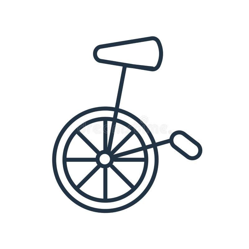 Vecteur d'icône de monocycle d'isolement sur le fond blanc, signe de monocycle illustration stock