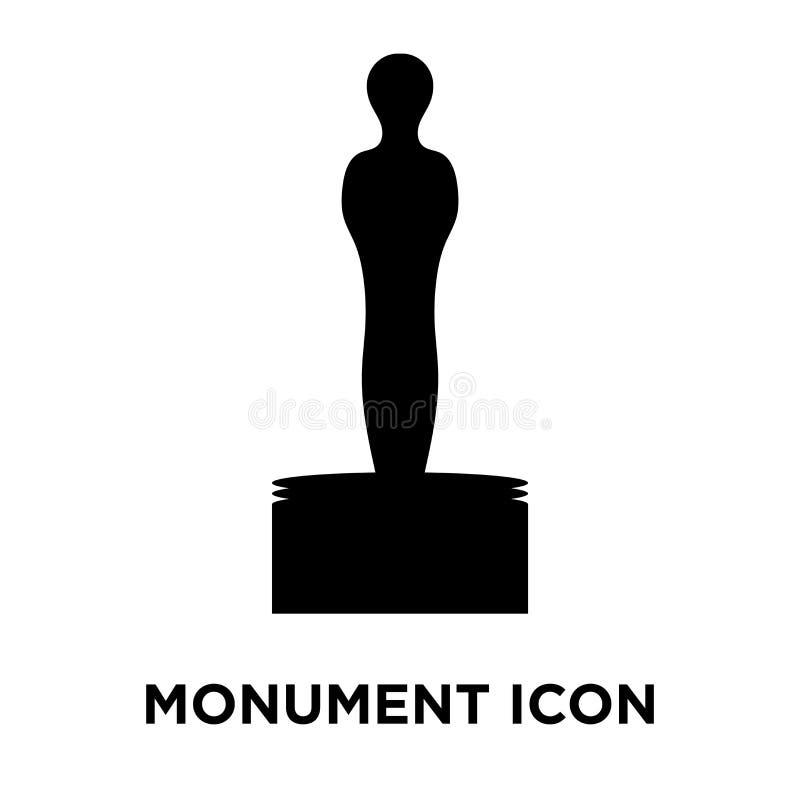 Vecteur d'icône de monument d'isolement sur le fond blanc, concept de logo illustration stock