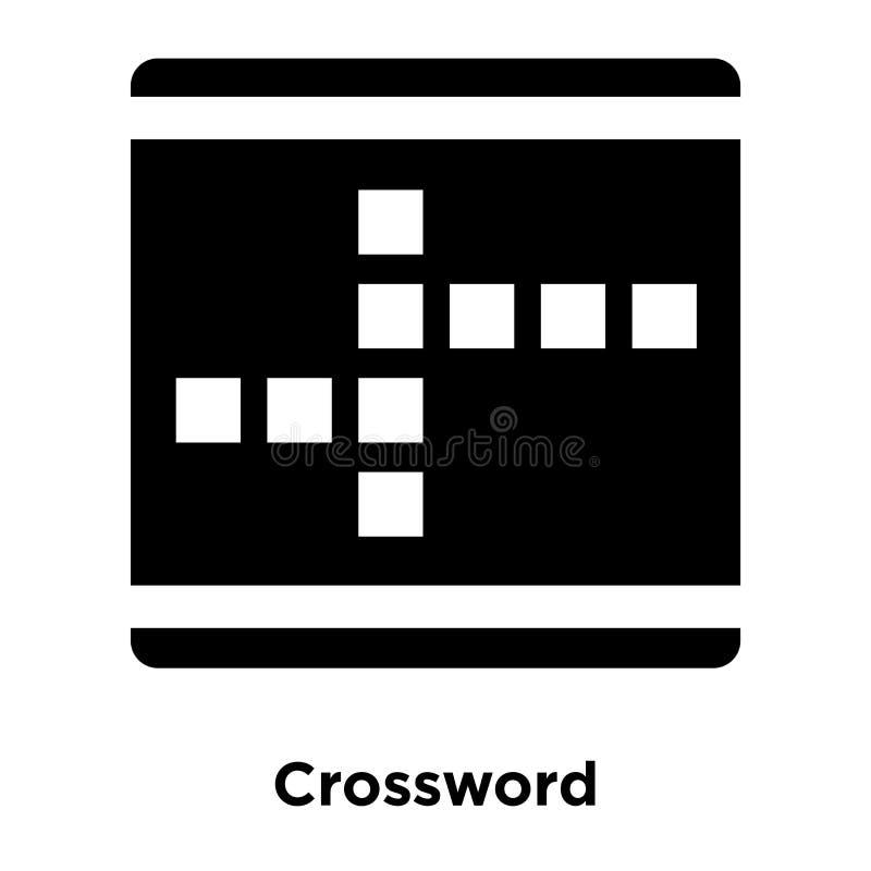 Vecteur d'icône de mots croisé d'isolement sur le fond blanc, concept de logo illustration libre de droits