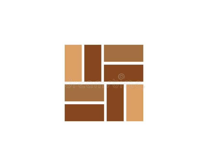 Vecteur d'icône de mur de briques illustration libre de droits