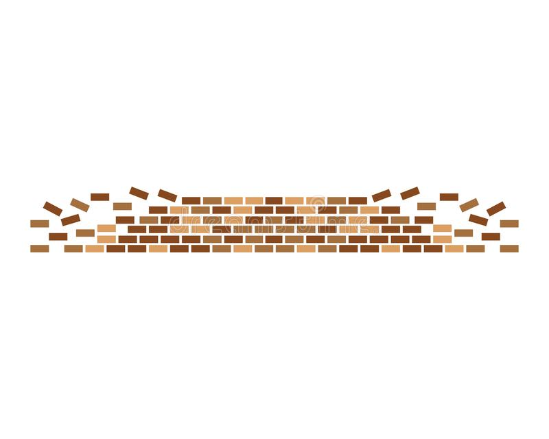 Vecteur d'icône de mur de briques illustration stock