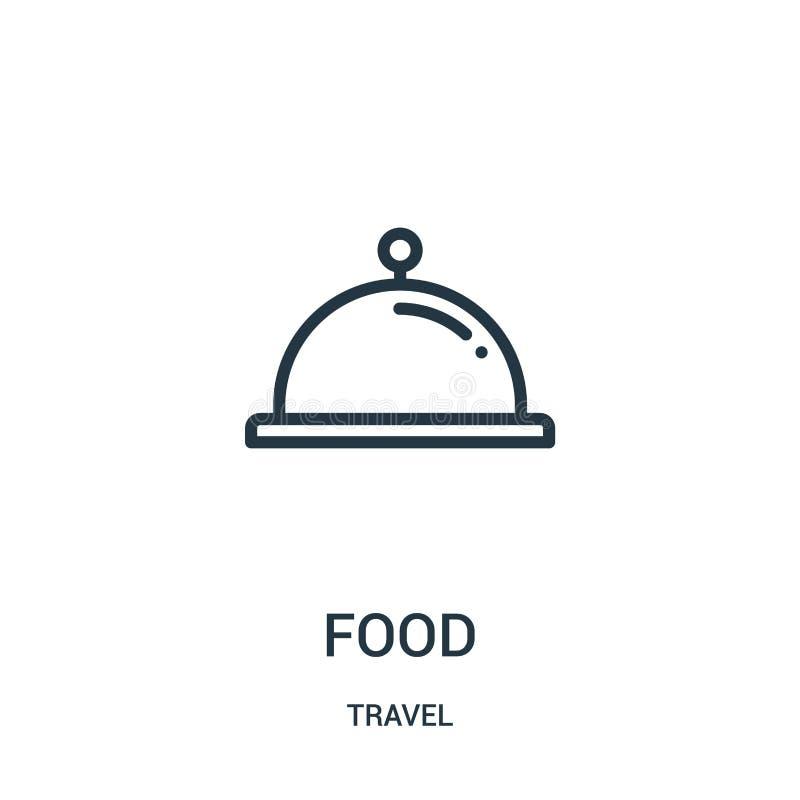 vecteur d'icône de nourriture de collection de voyage Ligne mince illustration de vecteur d'icône d'ensemble de nourriture Symbol illustration de vecteur