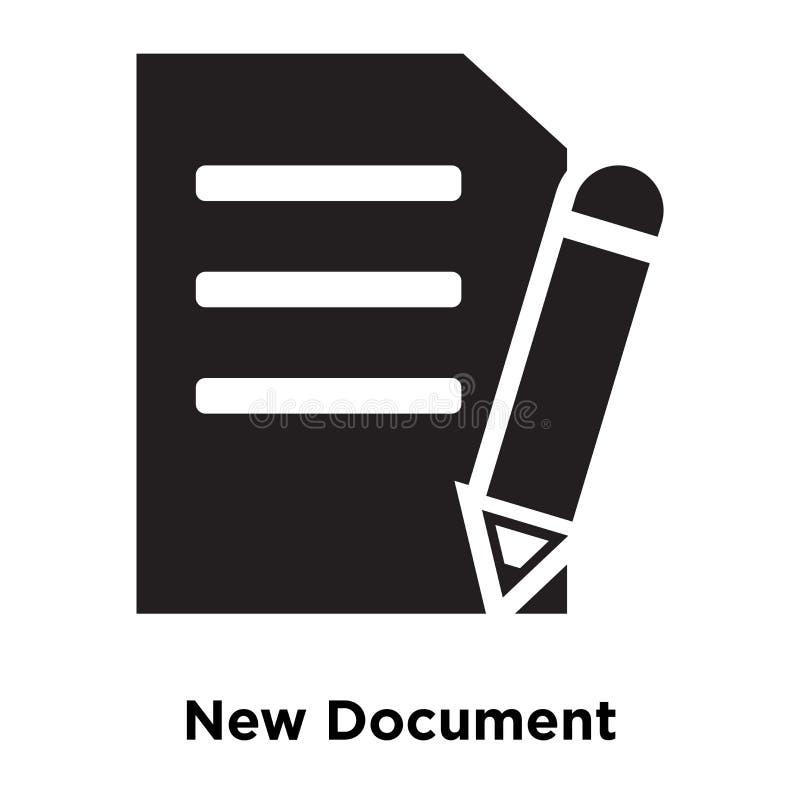 Vecteur d'icône de nouveau document d'isolement sur le fond blanc, logo concentré illustration libre de droits