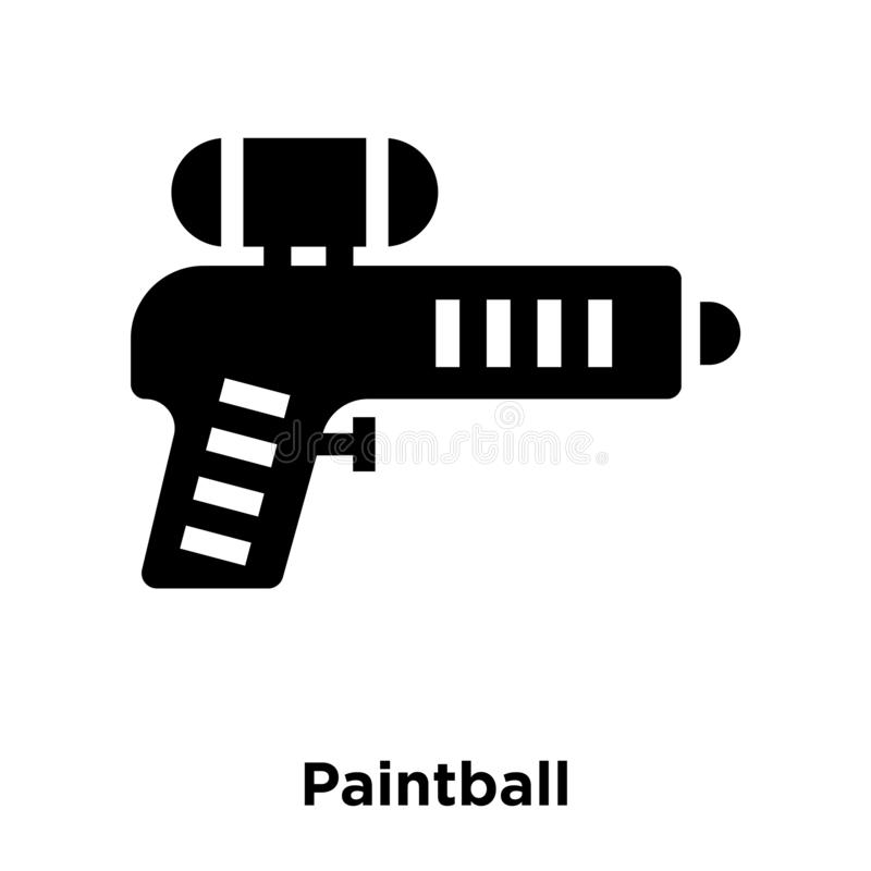 Vecteur d'icône de Paintball d'isolement sur le fond blanc, concept de logo illustration stock