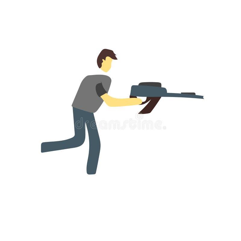 Vecteur d'icône de Paintball d'isolement sur le fond blanc, signe de Paintball illustration libre de droits