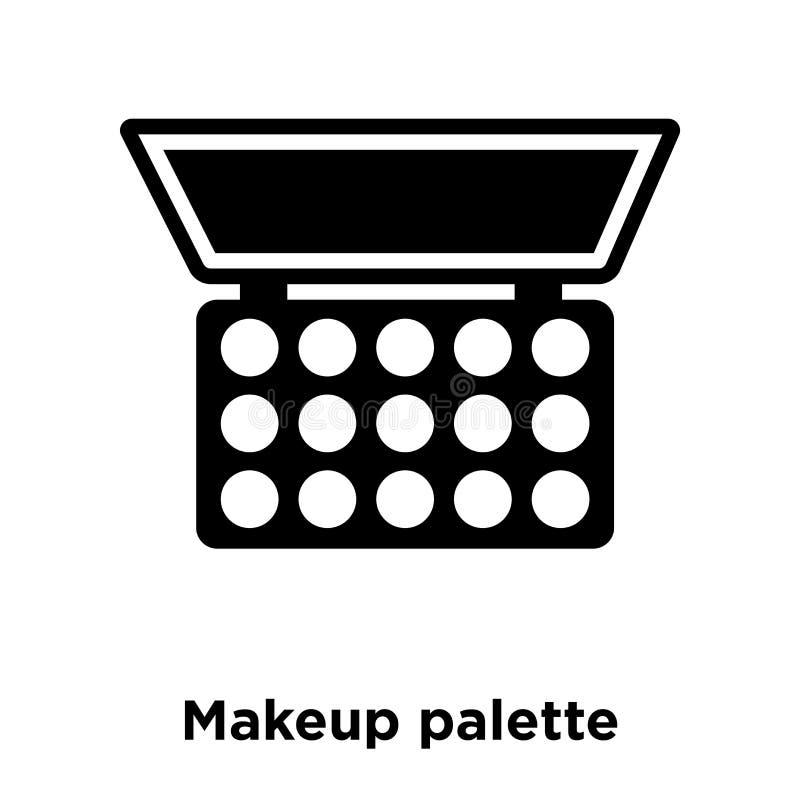 Vecteur d'icône de palette de maquillage d'isolement sur le fond blanc, logo Co illustration stock