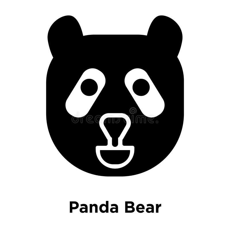 Vecteur d'icône de Panda Bear d'isolement sur le fond blanc, concep de logo illustration libre de droits