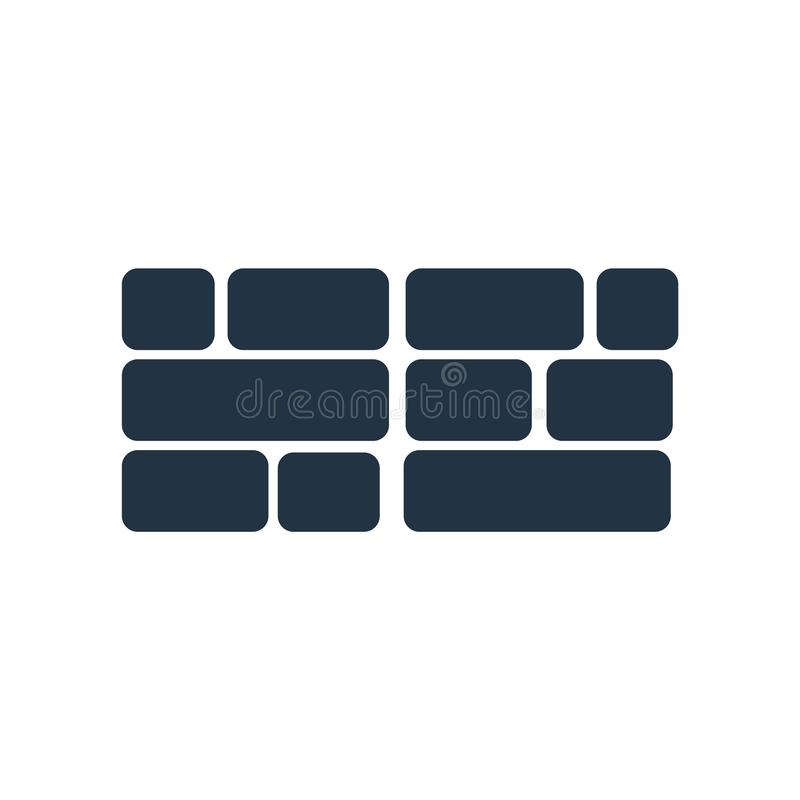 Vecteur d'icône de pare-feu d'isolement sur le fond blanc, signe de pare-feu illustration libre de droits